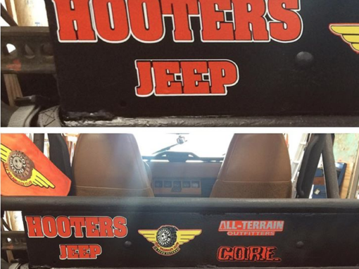 Hooters Jeep Decal