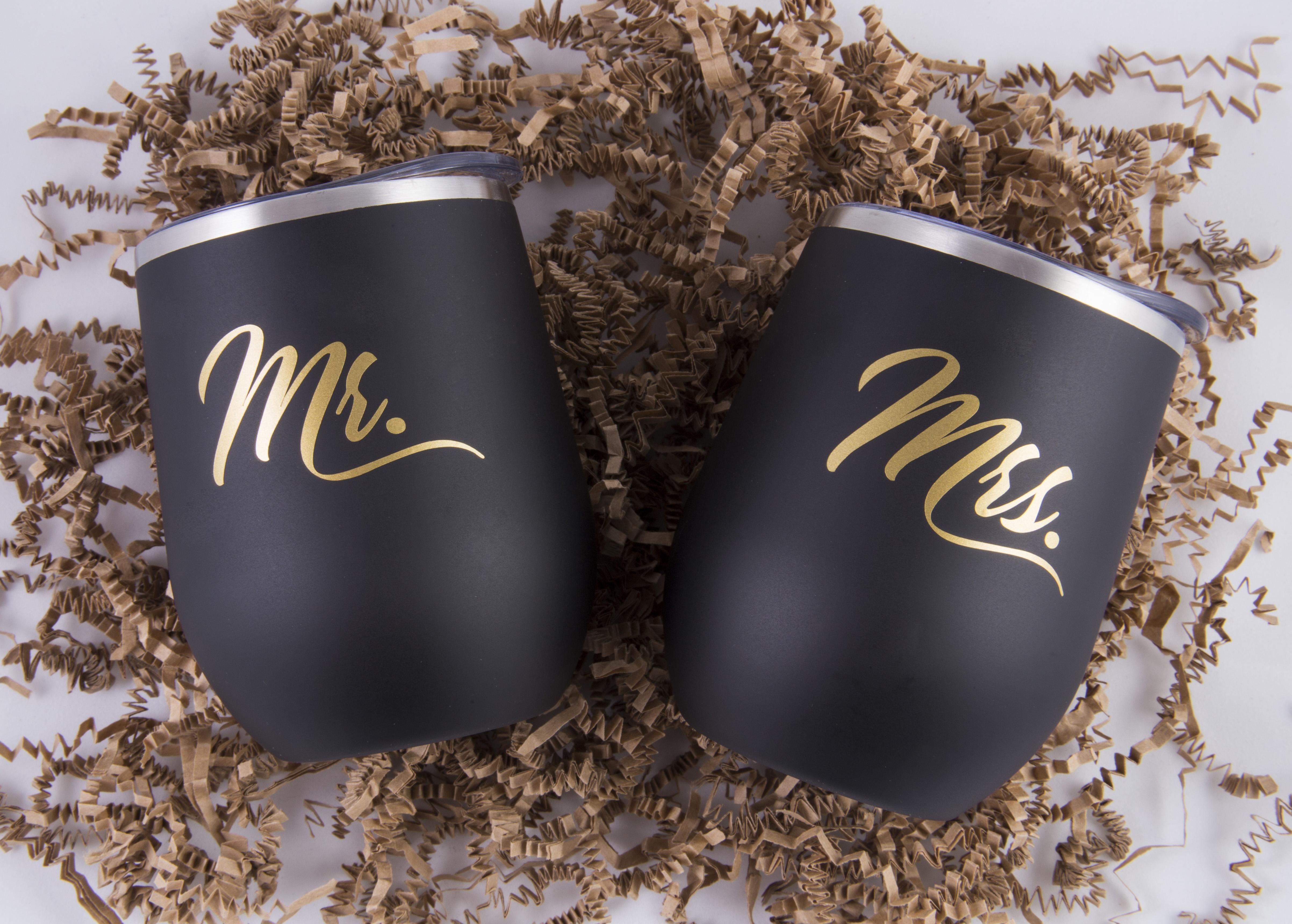 Mrs. & Mrs. – Custom Wine Tumbler