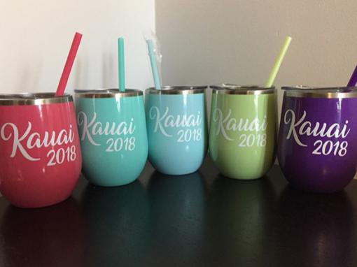 Kauai 2018 – Custom Wine Tumblers
